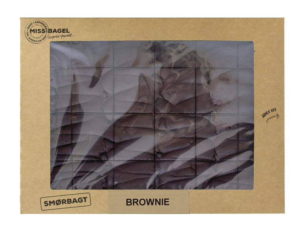 Mørk Brownie, chokoladekage fra Miss Bagel