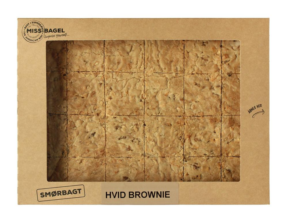 Hvid Brownie - Smørbagt