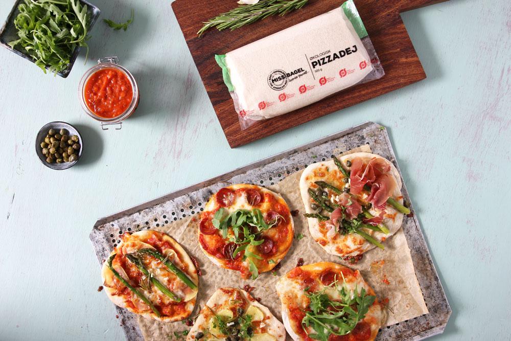Økologisk pizzadej