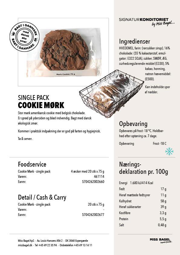 Datablade_Single pak cookie mørk